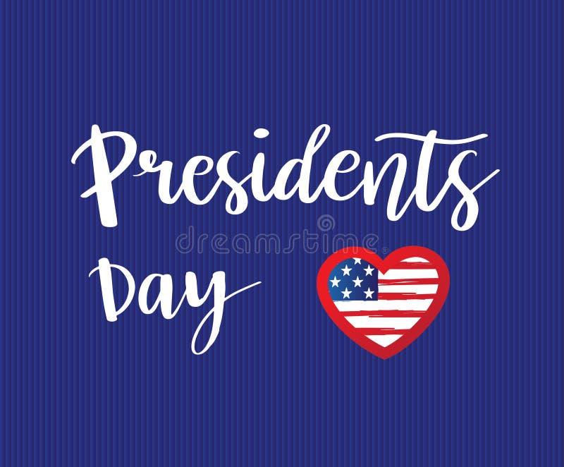 Cartão dos presidentes Dia do vetor ilustração do vetor