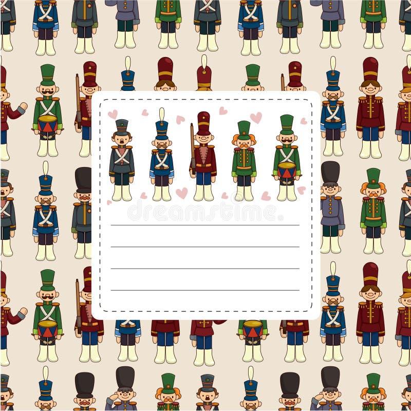 Cartão dos soldados de brinquedo dos desenhos animados ilustração stock