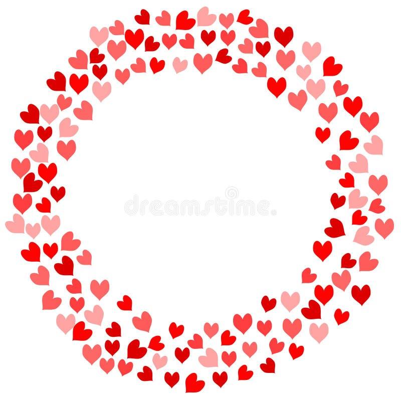 Cartão dos Valentim dos corações do quadro ilustração do vetor