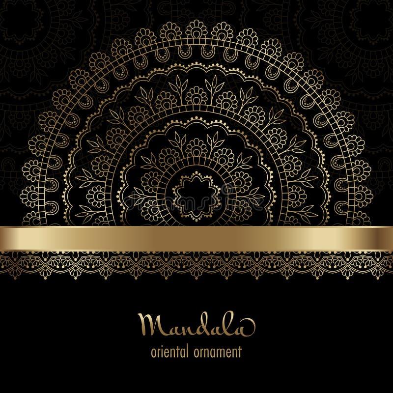 Cartão dourado ilustração stock