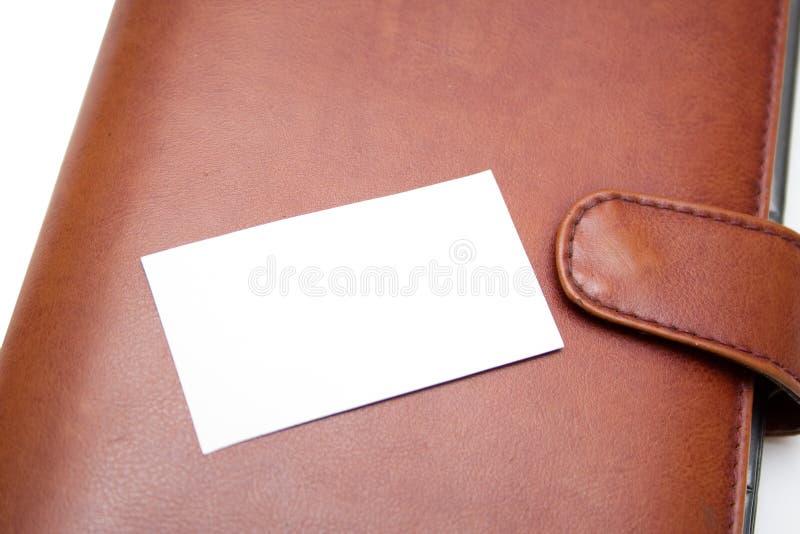 Cartão e organizador da visita fotografia de stock