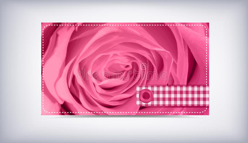 Cartão e rosas ilustração stock