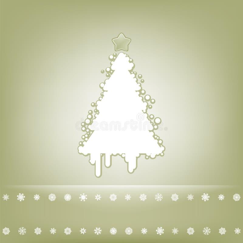 Cartão Elegante Com árvore De Natal. EPS 8 Imagens de Stock Royalty Free