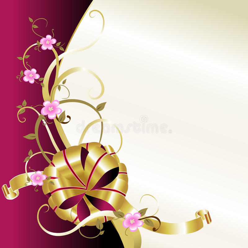 Cartão elegante da mola ilustração royalty free