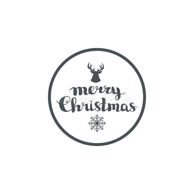 Cartão, elementos e ilustrações de Natal do inverno ilustração do vetor