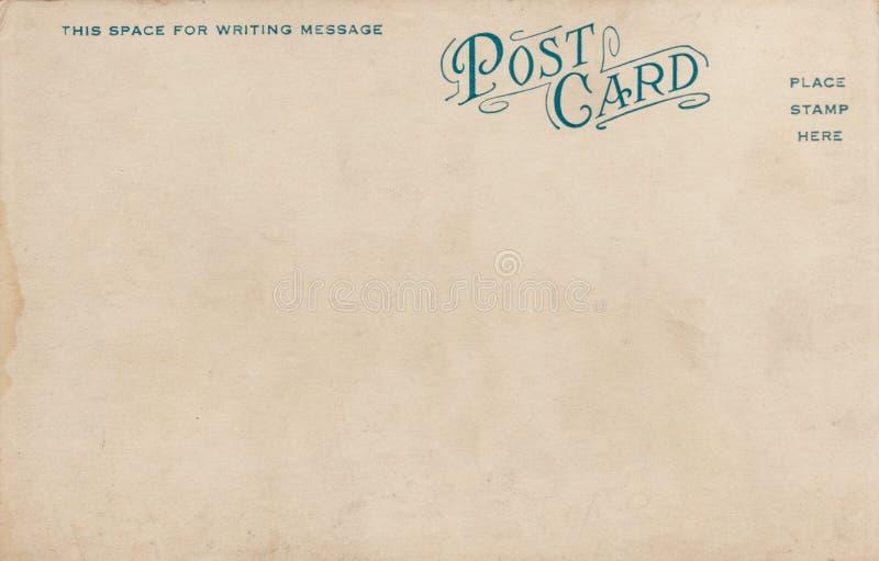 Cartão em branco 1900's do vintage fotografia de stock