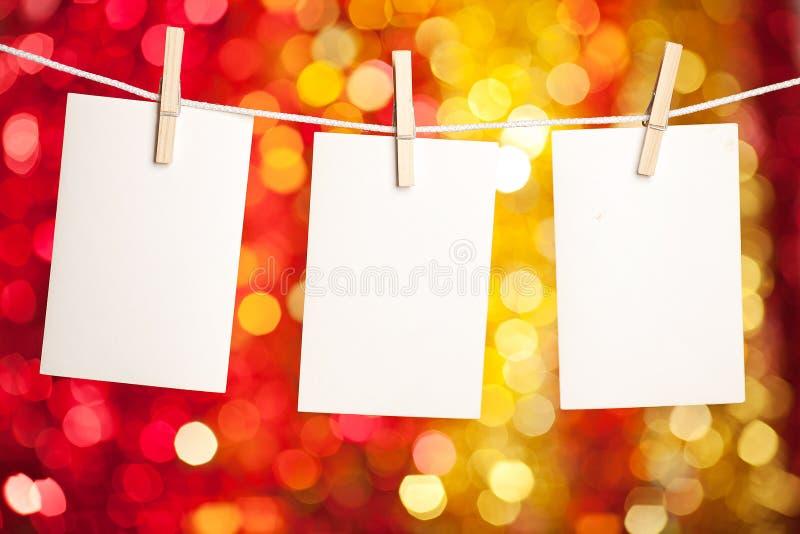 Cartão em branco com copyspace fotos de stock