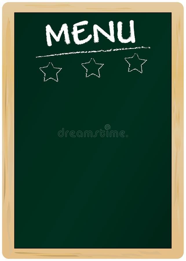 Cartão em branco do menu ilustração stock