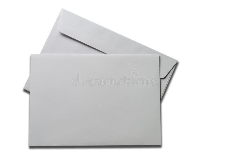 Cartão em branco e envelope imagem de stock royalty free