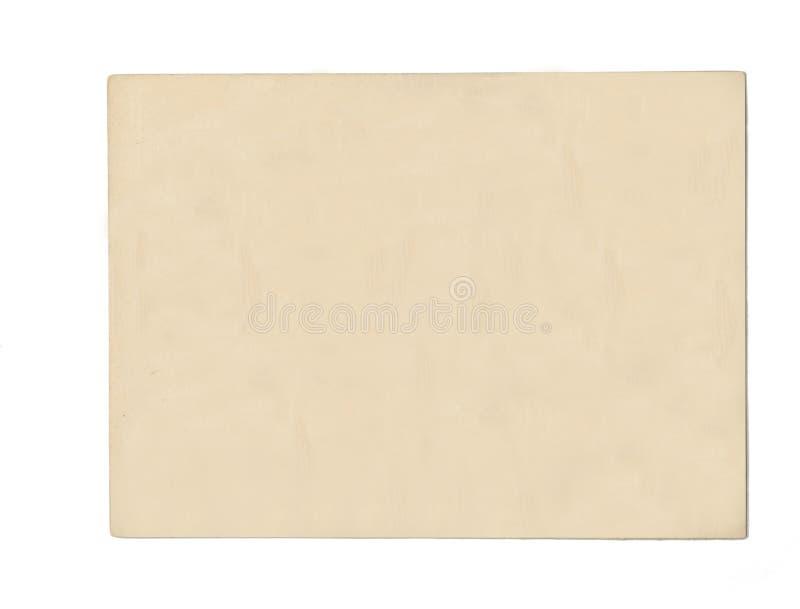 Cartão em branco velho imagem de stock royalty free