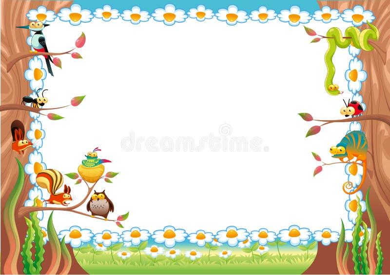 Cartão engraçado com espaço vazio para o texto. ilustração stock
