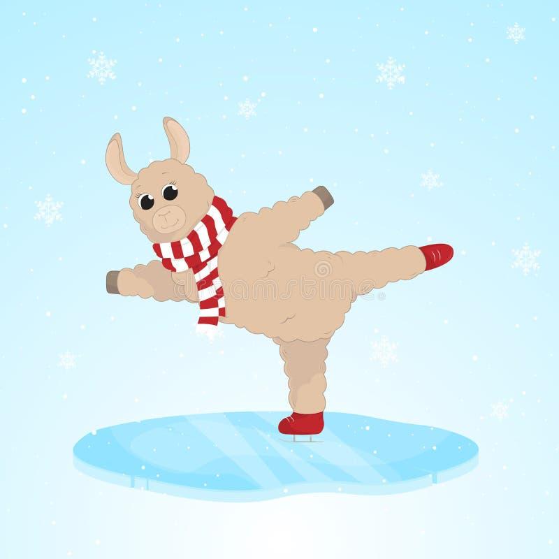 Cartão engraçado do Feliz Natal Ilustração do vetor imagem de stock