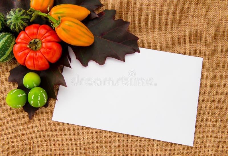 Download Cartão A Escrever Em Um Fundo Do Outono Foto de Stock - Imagem de textura, ninguém: 26501300