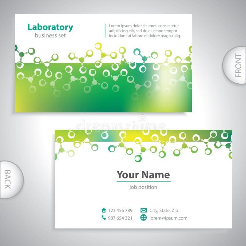 Cartão esverdeado universal do laboratório ilustração do vetor