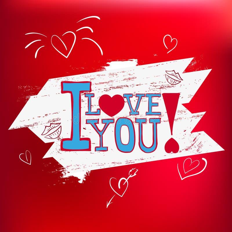 Cartão eu te amo! no vetor EPS 10 imagens de stock