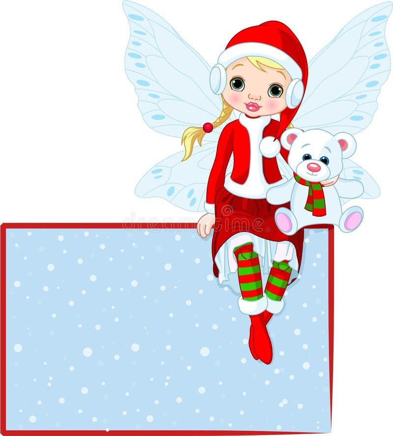 Cartão feericamente do lugar do Natal ilustração royalty free