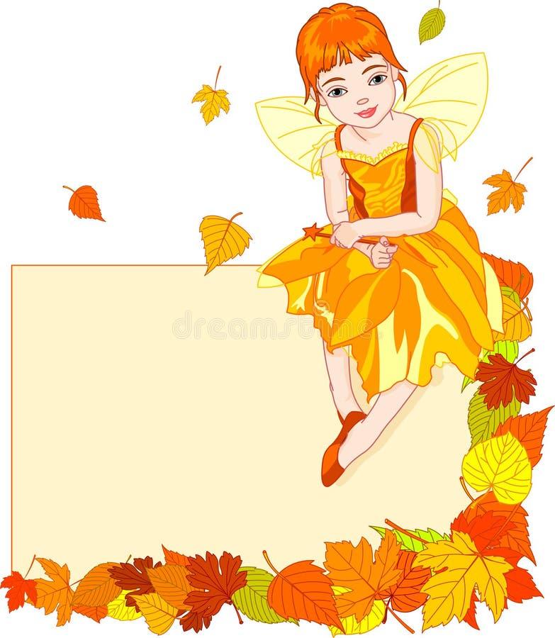 Cartão feericamente do lugar do outono