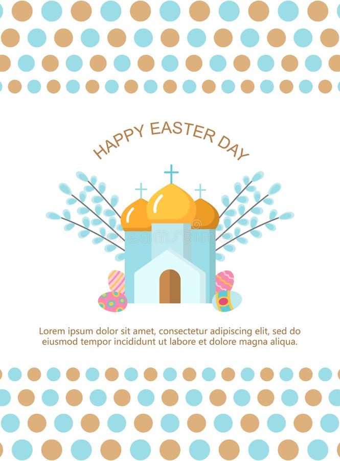 Cartão feliz da Páscoa ilustração royalty free