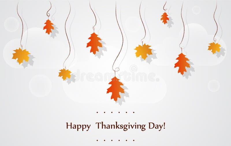 Cartão feliz das celebrações do dia da ação de graças