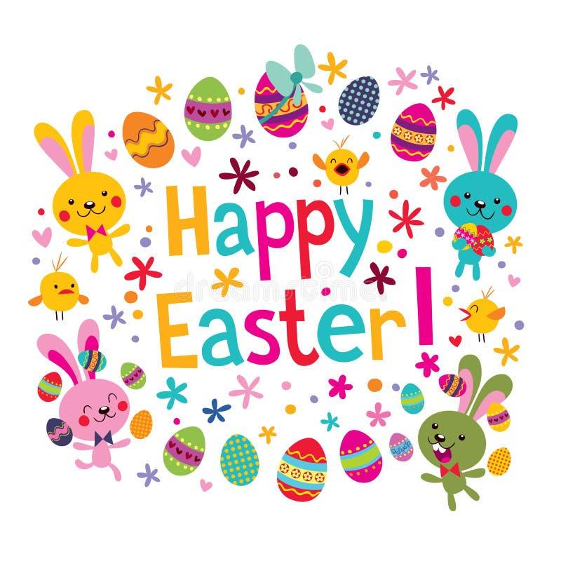 Cartão feliz de Easter ilustração stock