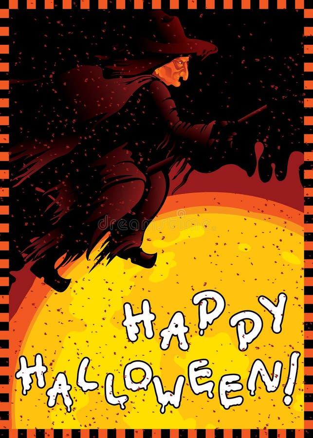 Cartão feliz de Halloween ilustração do vetor