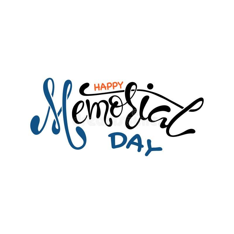 Cartão feliz de Memorial Day do vetor ilustração royalty free