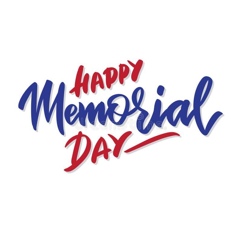 Cartão feliz de Memorial Day do vetor ilustração do vetor