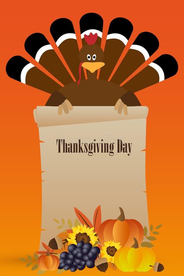 Cartão feliz do dia da ação de graças ilustração do vetor