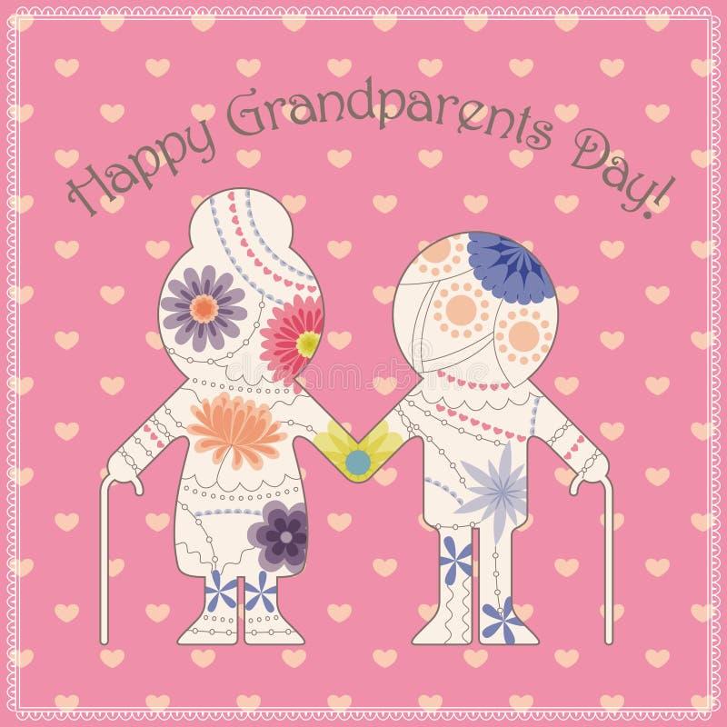 Download Cartão feliz do dia da avó ilustração stock. Ilustração de pintado - 80101941