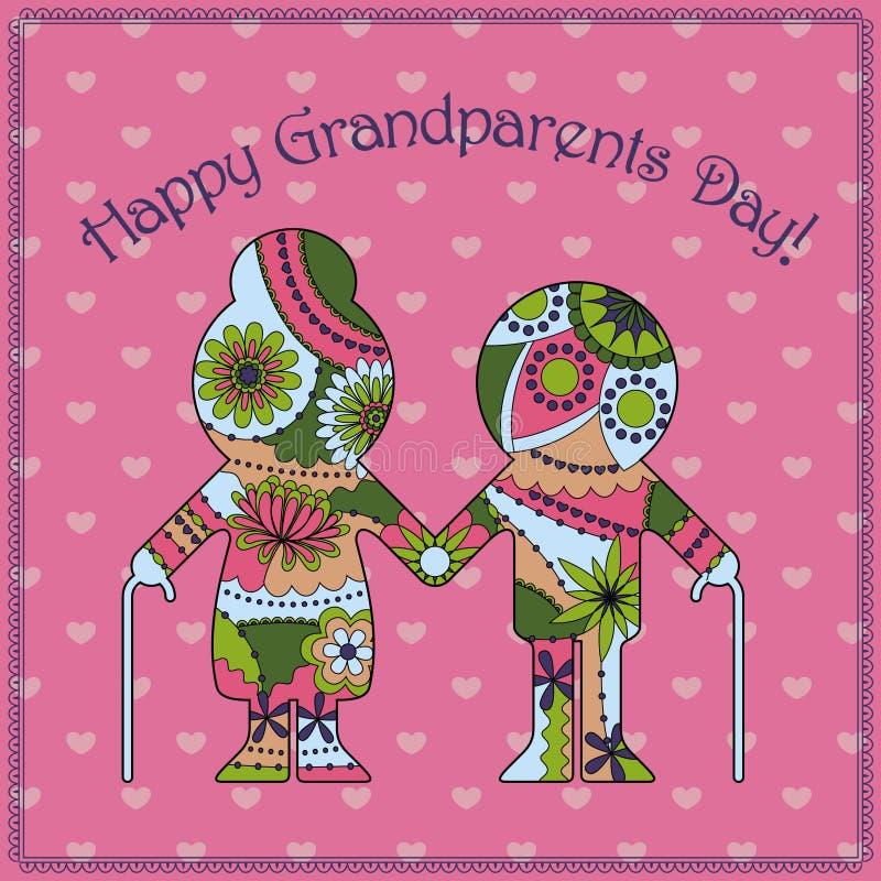 Download Cartão feliz do dia da avó ilustração stock. Ilustração de cute - 80101974