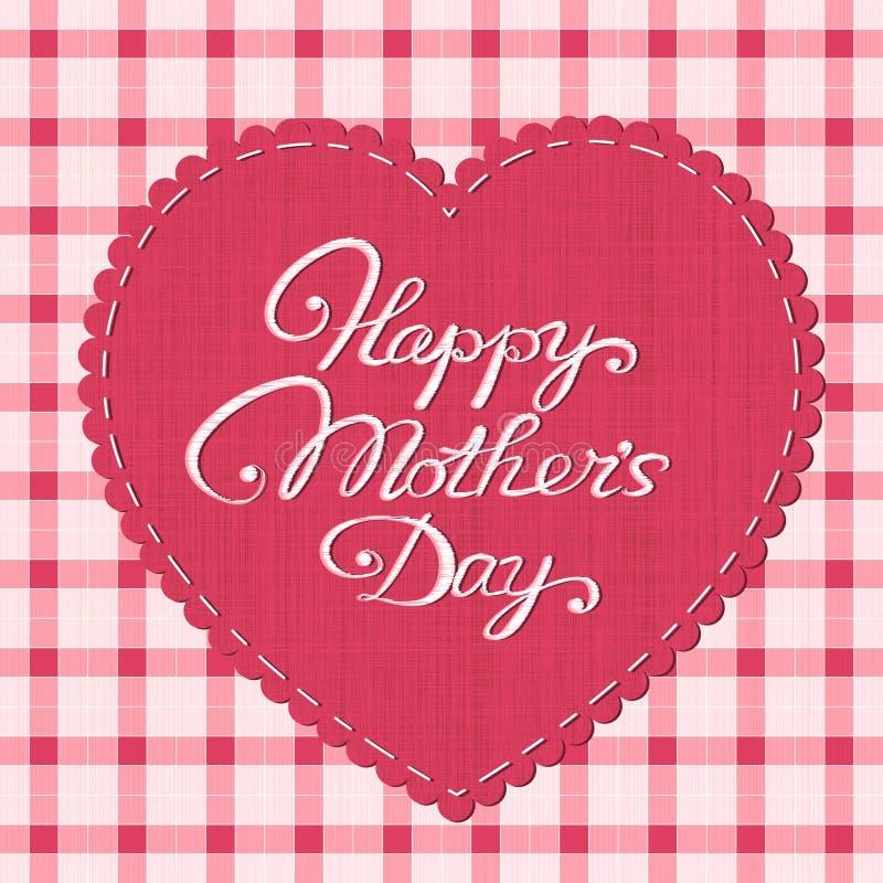 Cartão feliz do dia de mãe ilustração royalty free