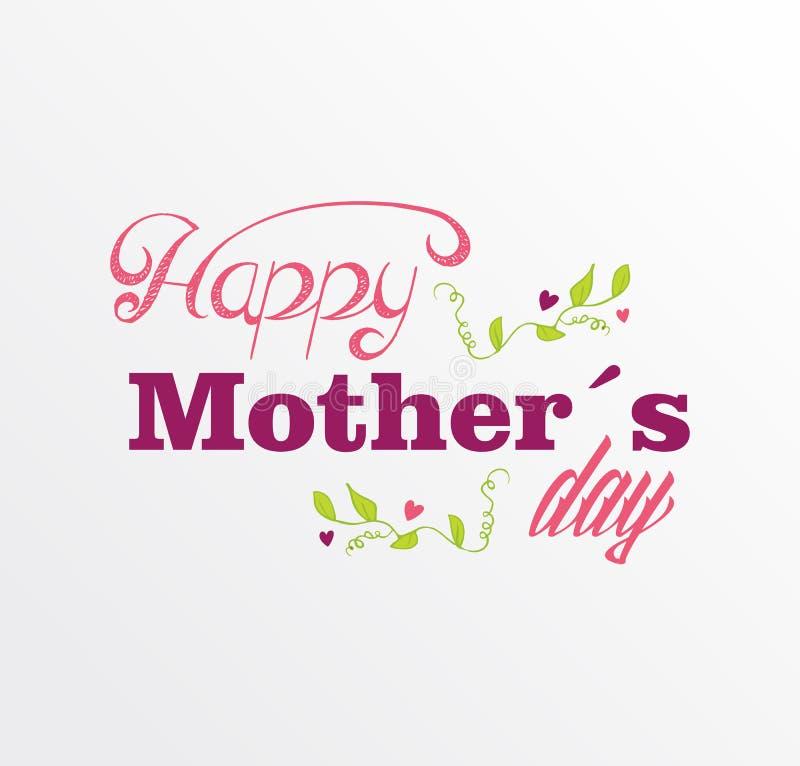 Cartão feliz do dia de mães do vintage