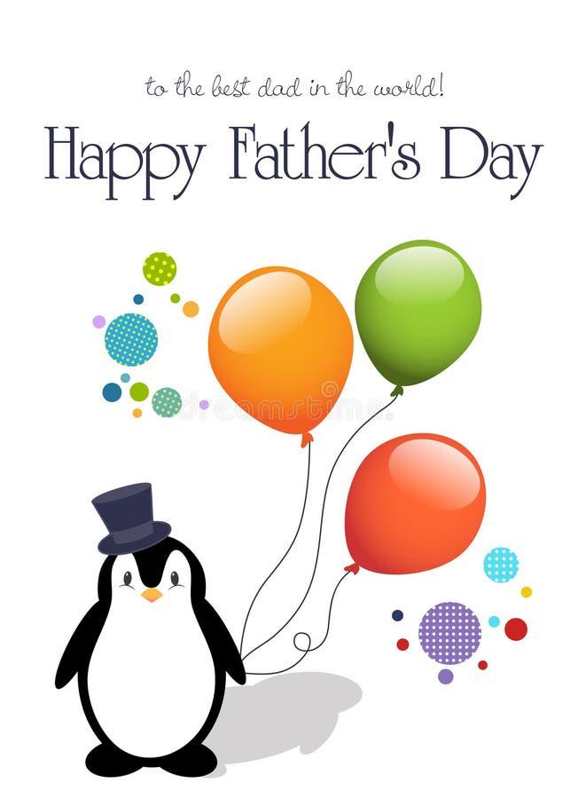 Cartão feliz do dia de pai ilustração royalty free
