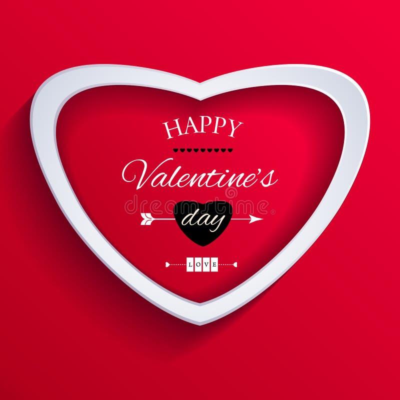 Cartão feliz do dia de Valentim. ilustração stock