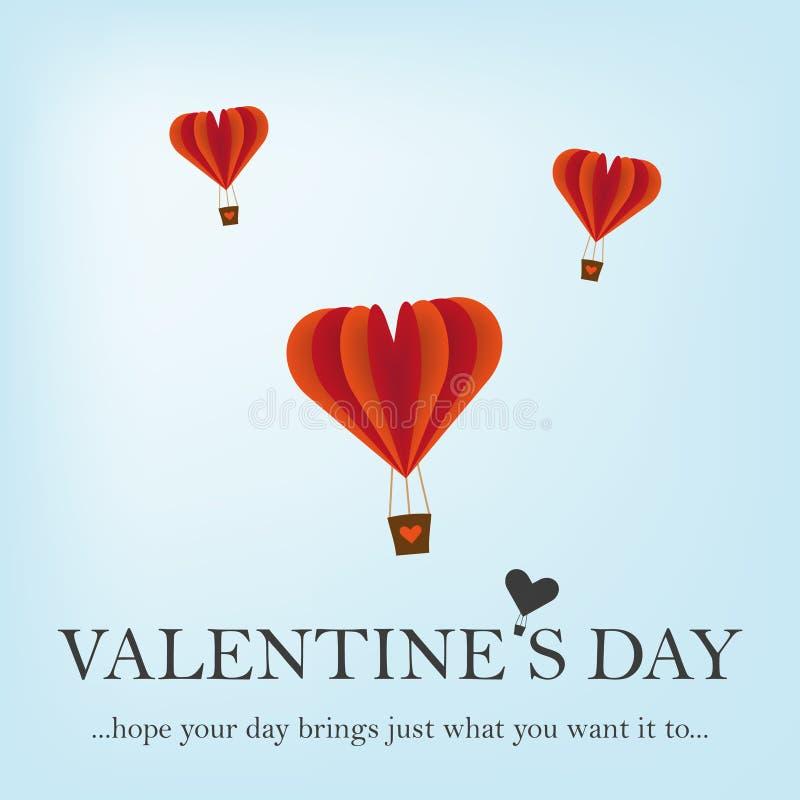 Cartão feliz do dia de Valentim com corações Vetor ilustração stock