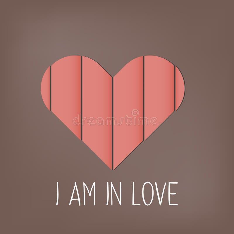 Cartão feliz do dia de Valentim com corações Vetor ilustração do vetor