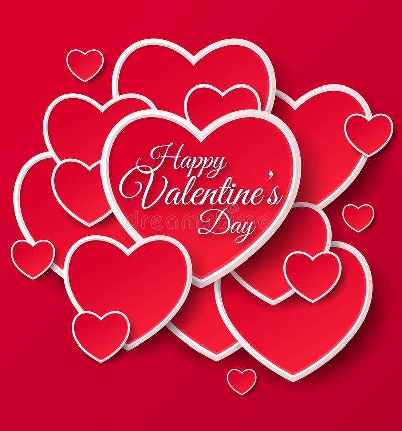 Cartão feliz do dia dos Valentim ilustração stock