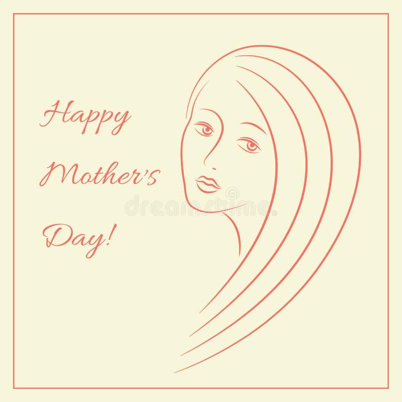 Cartão feliz do dia do ` s da mãe fotos de stock