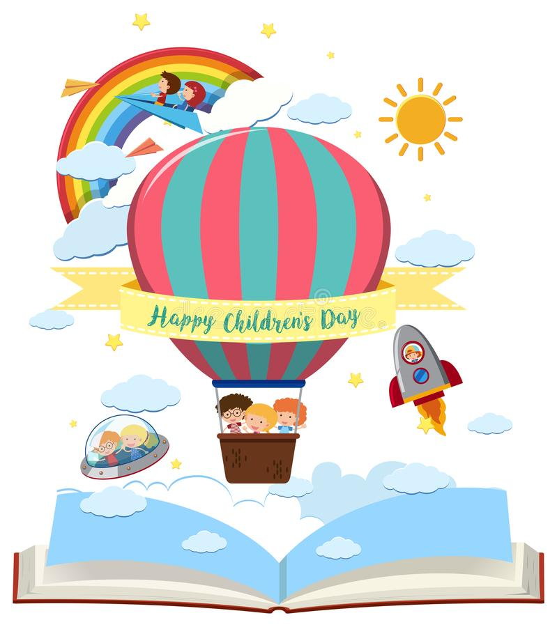 Cartão feliz do dia do ` s das crianças ilustração royalty free