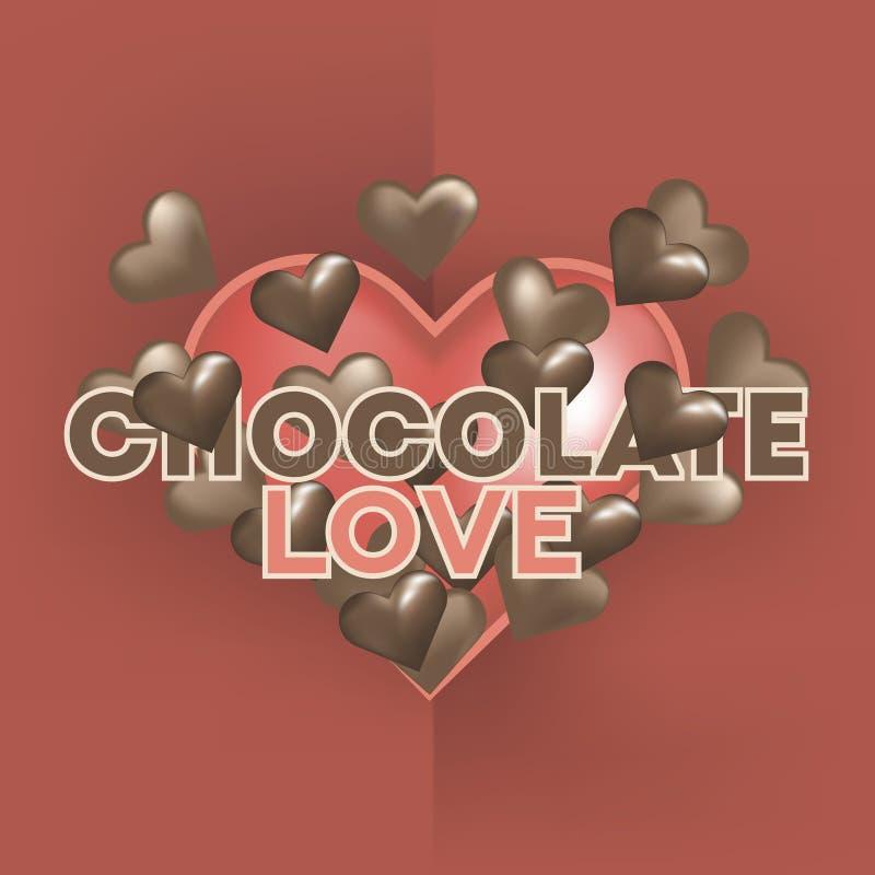 Cartão feliz do dia do ` s do Valentim com corações vermelhos Vetor ilustração stock