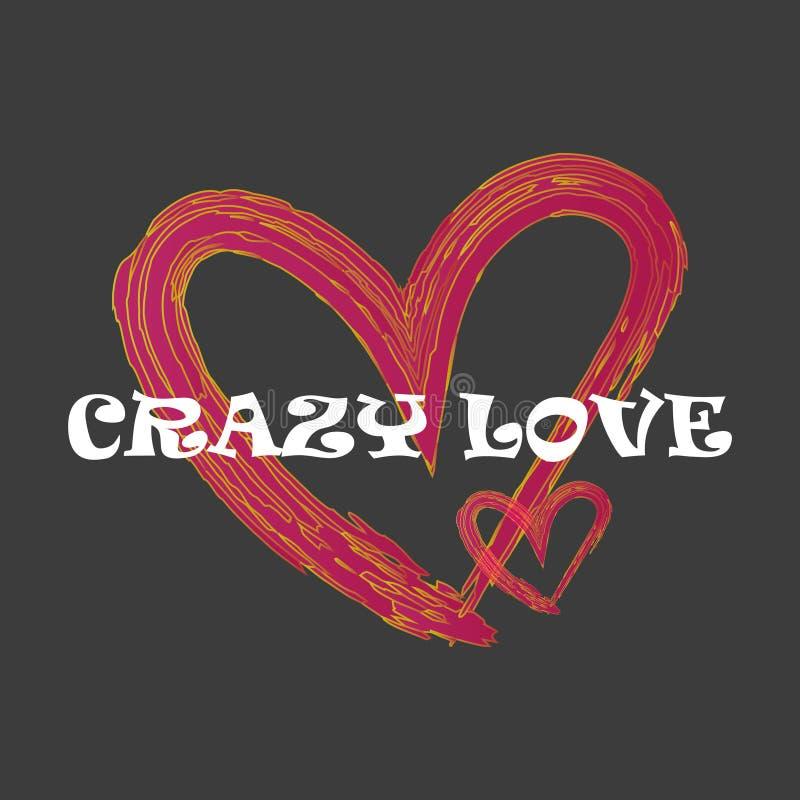 Cartão feliz do dia do ` s do Valentim com corações vermelhos Vetor ilustração royalty free