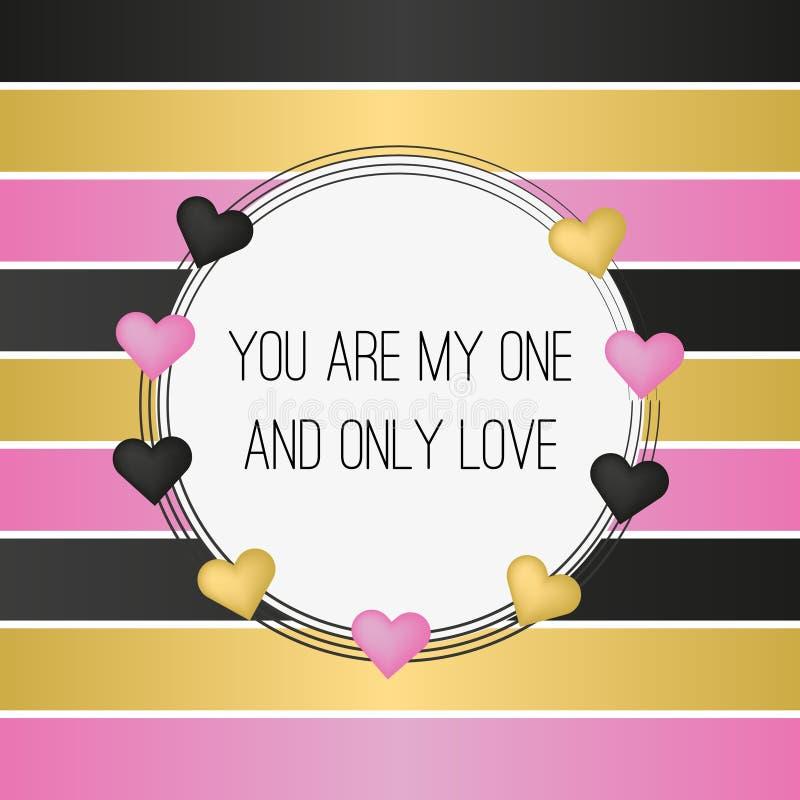 Cartão feliz do dia do `s do Valentim Vetor ilustração royalty free