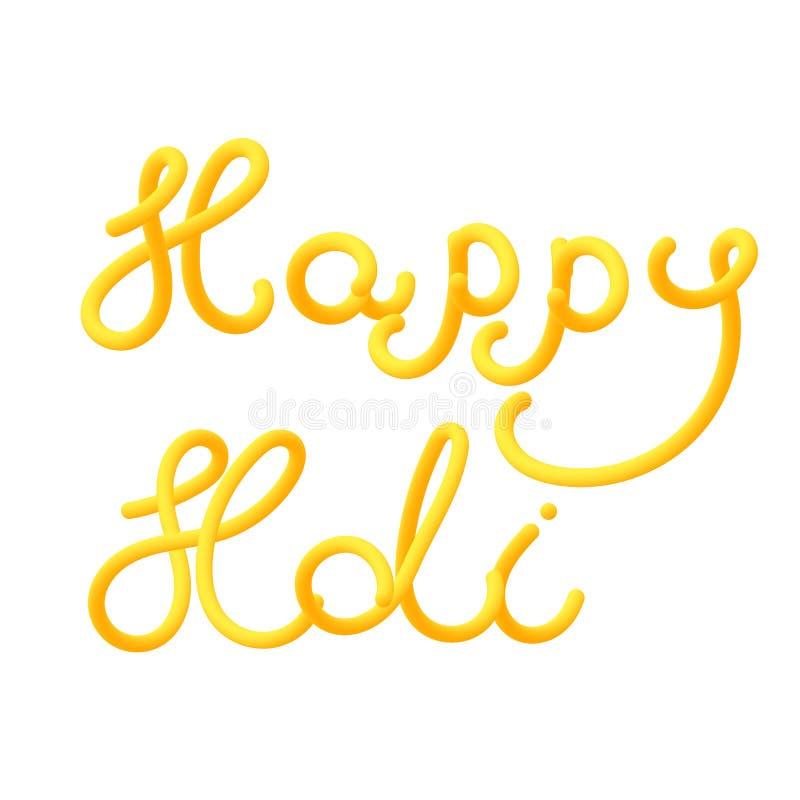 Cartão feliz do holi para o festival de cores brilhantes ilustração royalty free