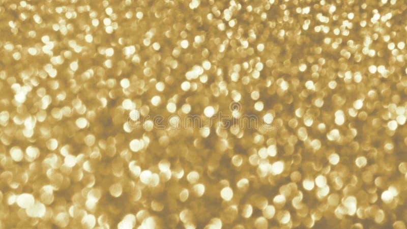 Cartão festivo brilhante dourado do ano novo Fundo de incandescência com estilo do bokeh para cumprimentos sazonais imagem de stock royalty free