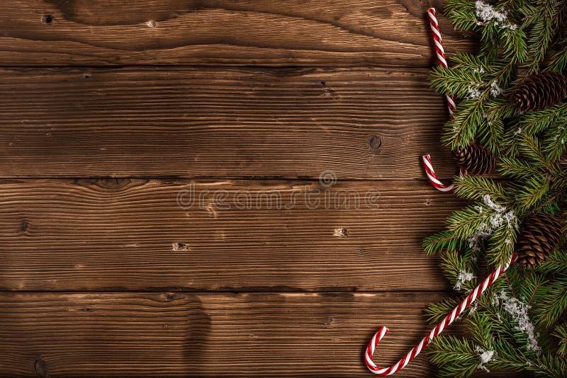 Cartão festivo do Natal ou do ano novo Vista superior fotos de stock