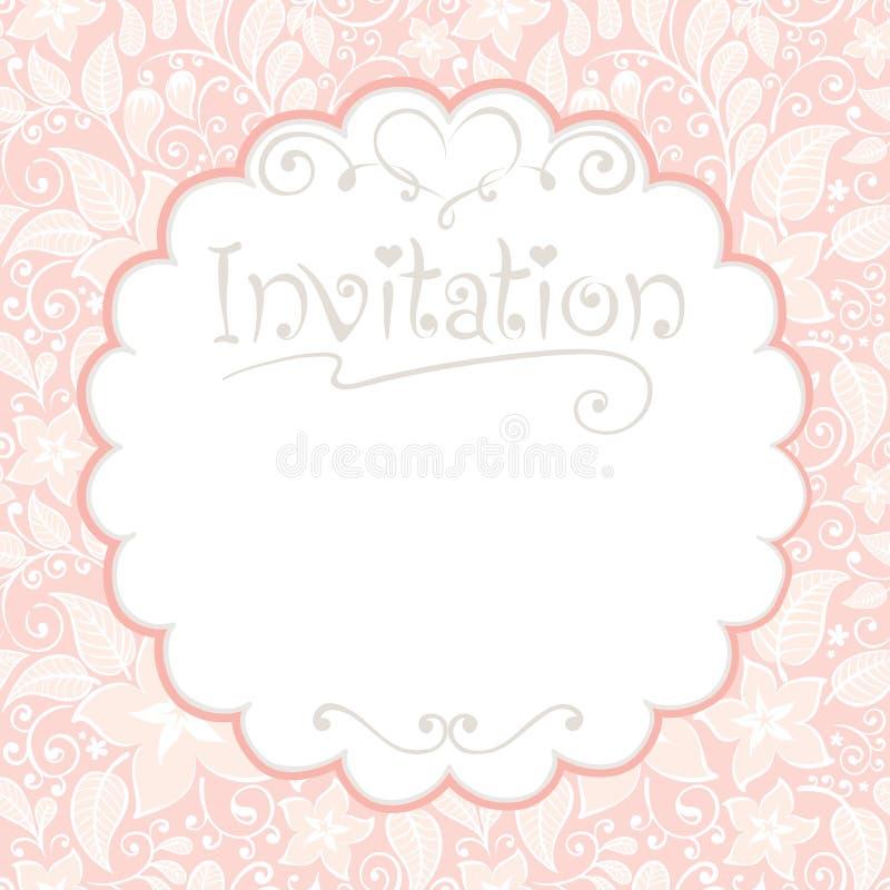 Cartão floral -- convites ilustração do vetor