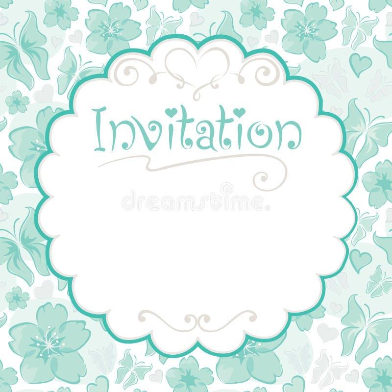 Cartão floral -- convites ilustração stock