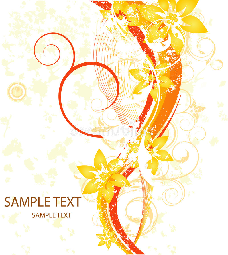Cartão floral da beleza imagens de stock royalty free