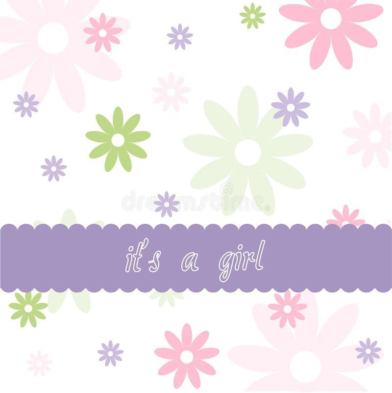 Cartão floral do bebê ilustração royalty free