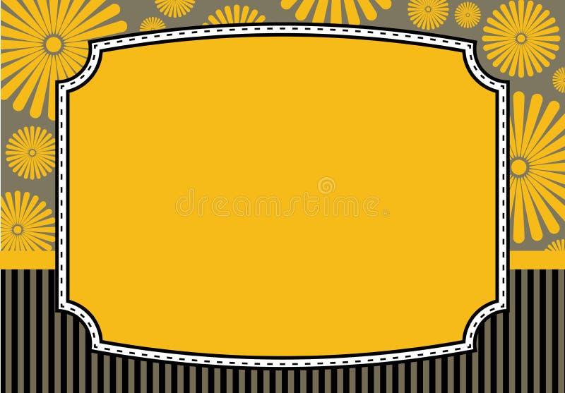 Cartão floral do convite ilustração stock